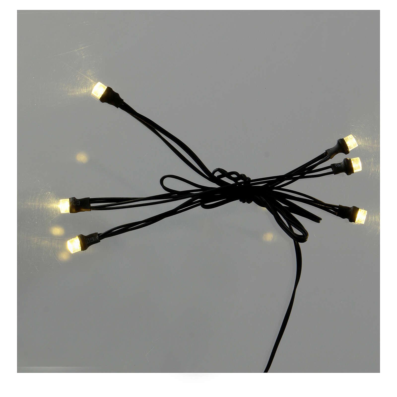 Guirlande 5 points lumineux LED oranges 3,5V 4
