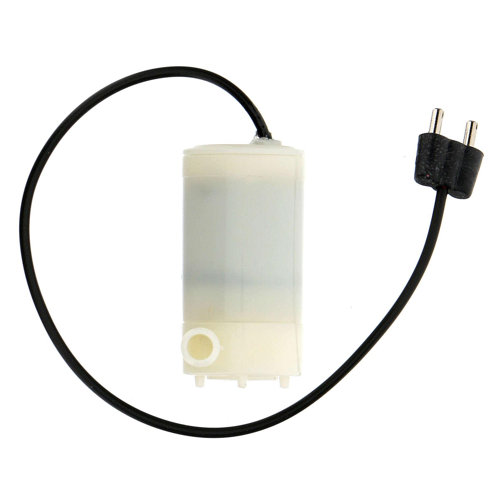 Bomba de água para fonte presépio com ficha baixa tensão 3,5 V 4