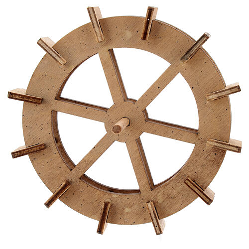 Wooden water mill wheel, diameter 10 cm 1