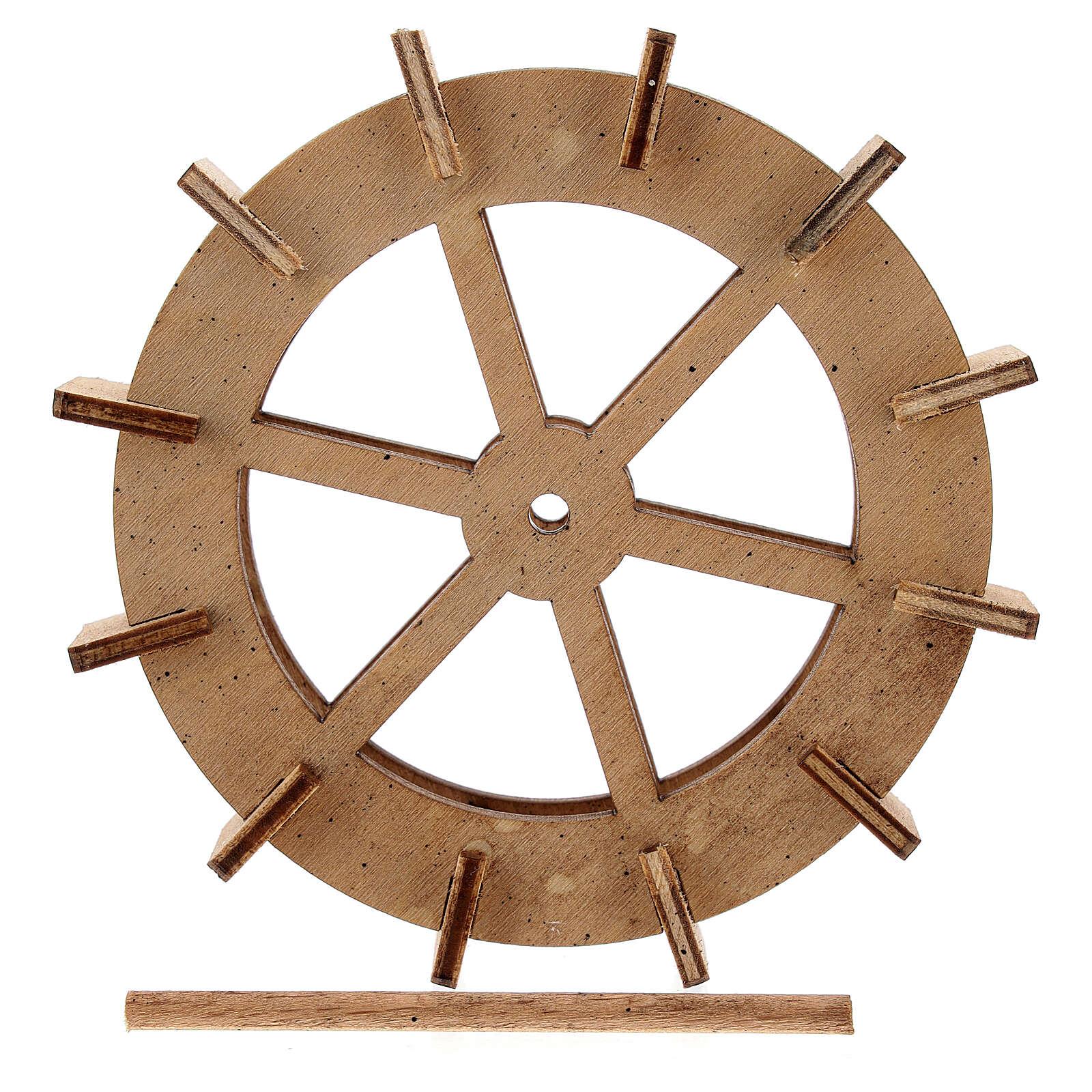 Rueda molino agua madera 10 cm 4
