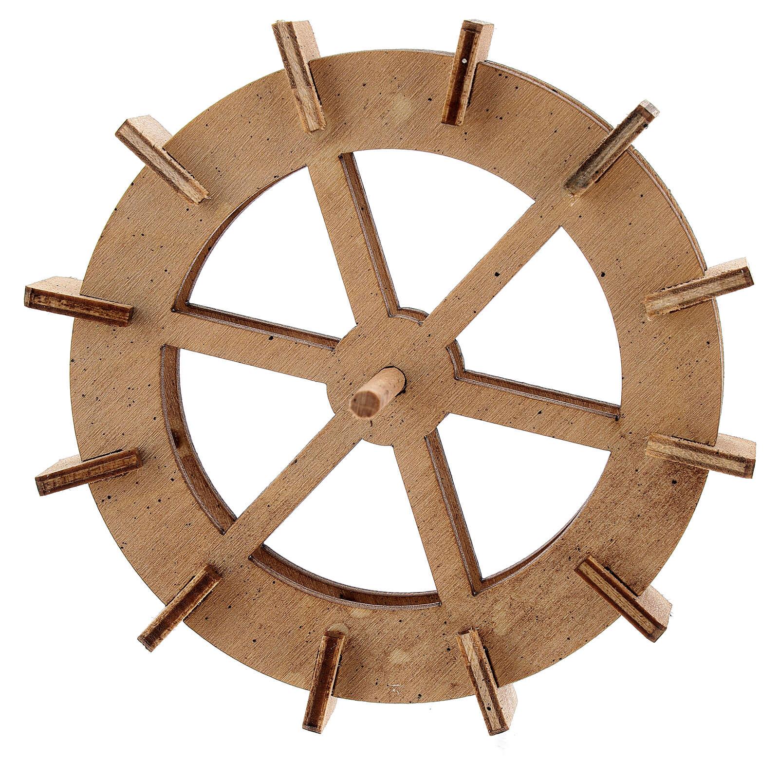 Roue moulin à eau bois 10 cm 4