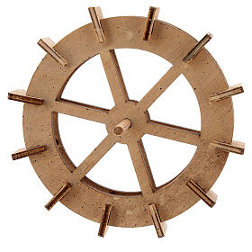 Ruota mulino acqua legno 10 cm s1