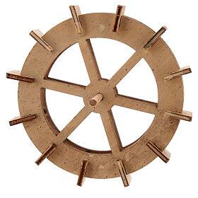 Water mill wheel in wood 10 cm s1