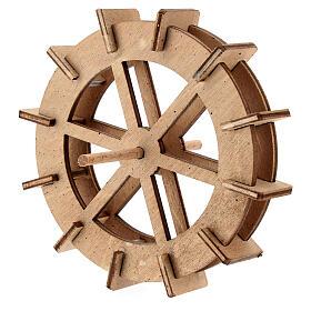 Water mill wheel in wood 10 cm s2