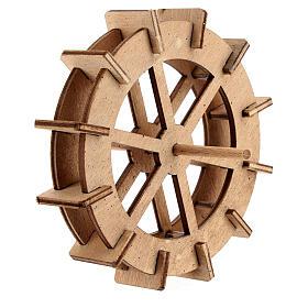 Water mill wheel in wood 10 cm s3