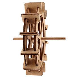 Water mill wheel in wood 10 cm s4