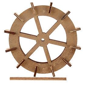 Water mill wheel in wood 10 cm s5