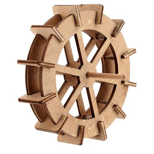Water mill wheel in wood 10 cm 3