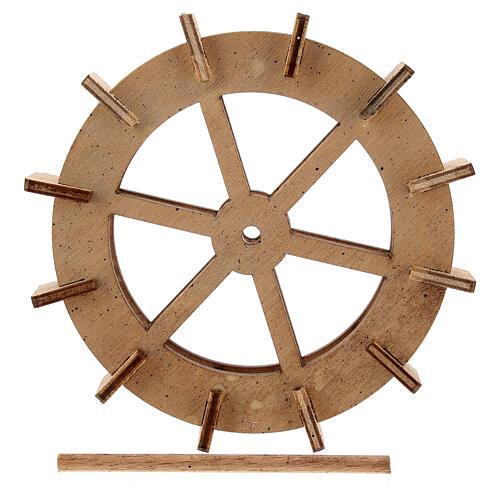 Water mill wheel in wood 10 cm 5