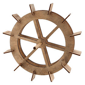 Wooden wheel for water mill, diameter 20 cm s1