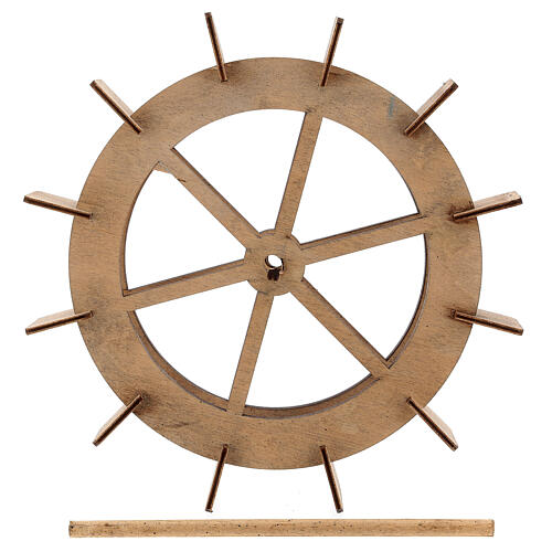 Wooden wheel for water mill, diameter 20 cm 5