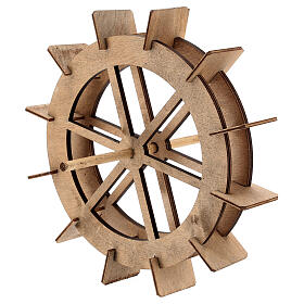 Rueda de madera para molino del belén 20 cm s2