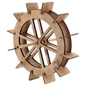 Roda para moinho de água miniatura madeira 20 cm s2