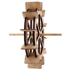 Roda para moinho de água miniatura madeira 20 cm s4