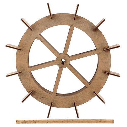 Roda para moinho de água miniatura madeira 20 cm 5