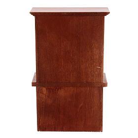 Wooden furniture set 7 pieces Nativity scene 12 cm s10