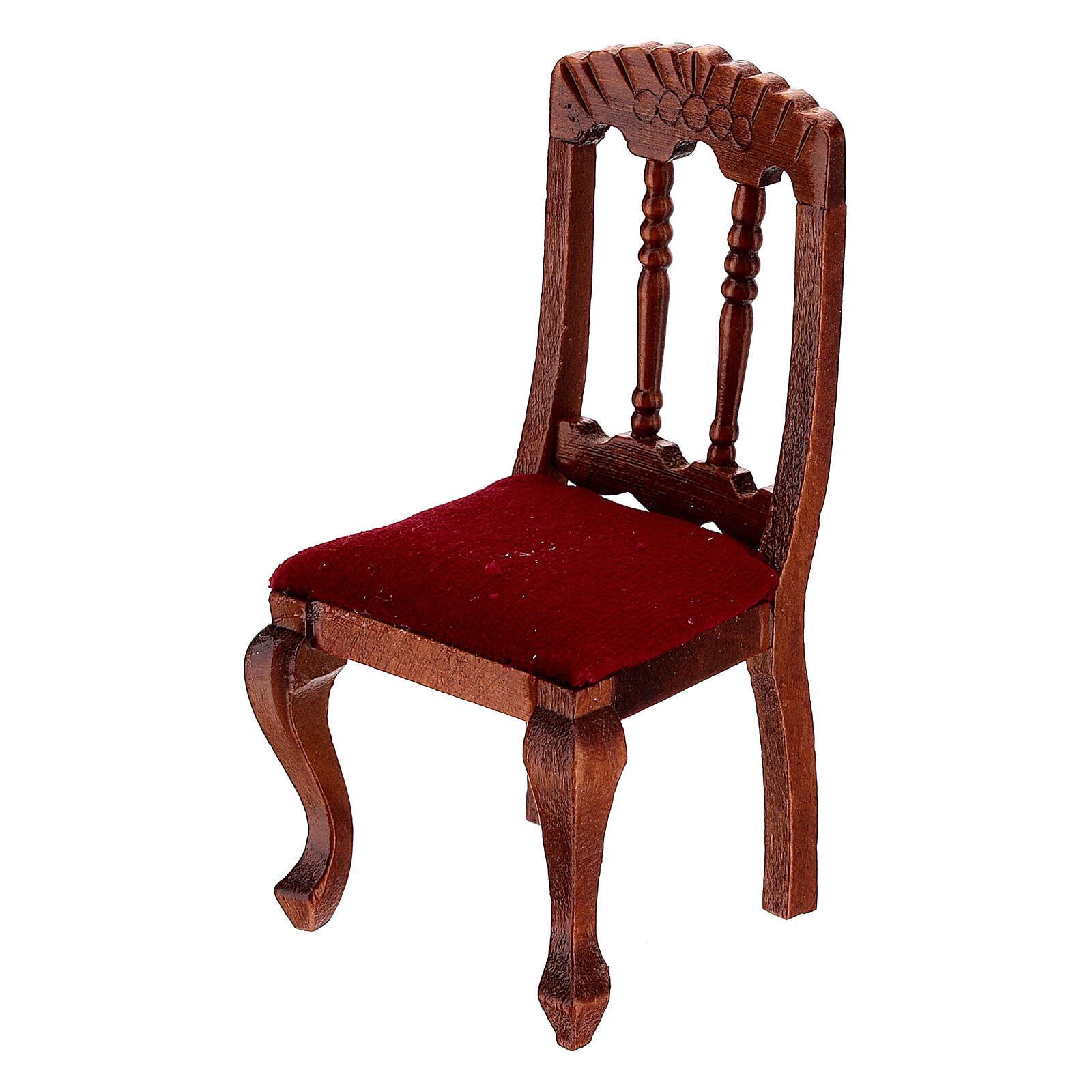 Set meubles bois salle à manger crèche 12 cm 4