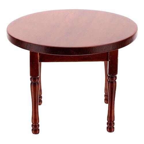 Set meubles bois salle à manger crèche 12 cm 8