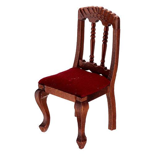 Set meubles bois salle à manger crèche 12 cm 9