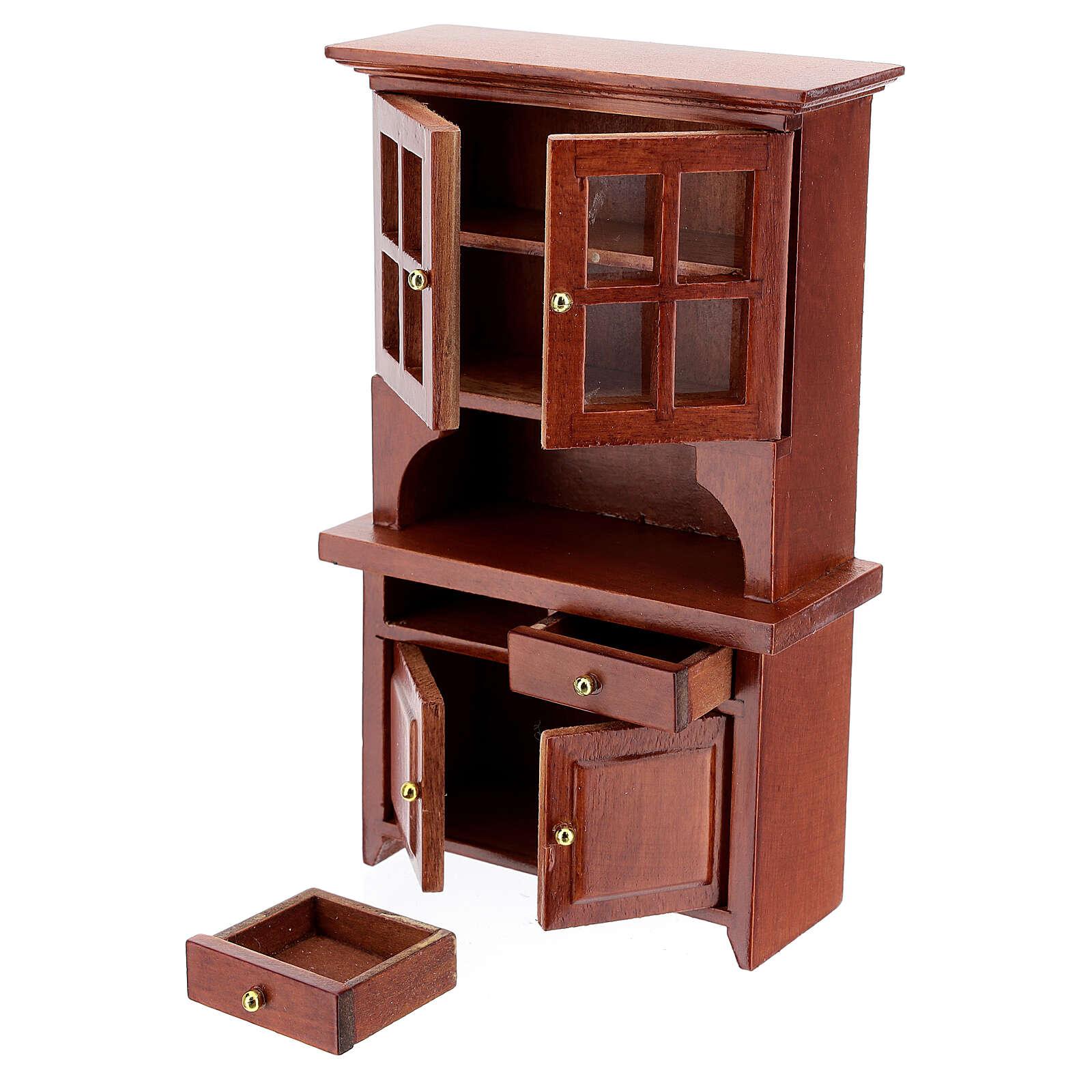 Set mobili legno sala 7 pezzi presepe 12 cm 4