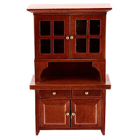 Set mobili legno sala 7 pezzi presepe 12 cm s5