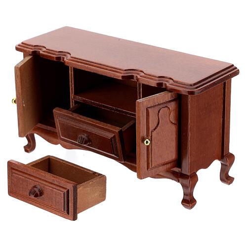 Set mobili legno sala 7 pezzi presepe 12 cm 3