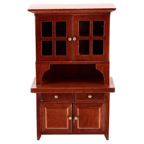 Set mobili legno sala 7 pezzi presepe 12 cm 5