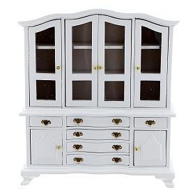 Mobili legno bianco 9 pezzi presepe 12-14 cm s8