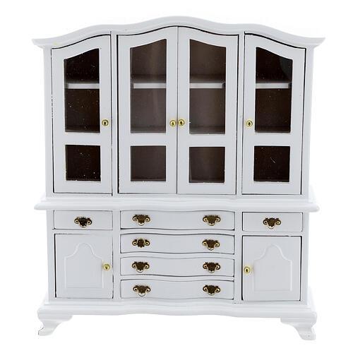 Mobili legno bianco 9 pezzi presepe 12-14 cm 8