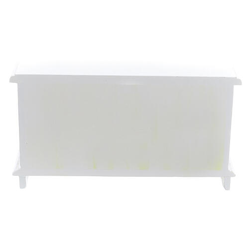 White wood furniture 9 items for Nativity Scene with 12-14 cm figurines 10