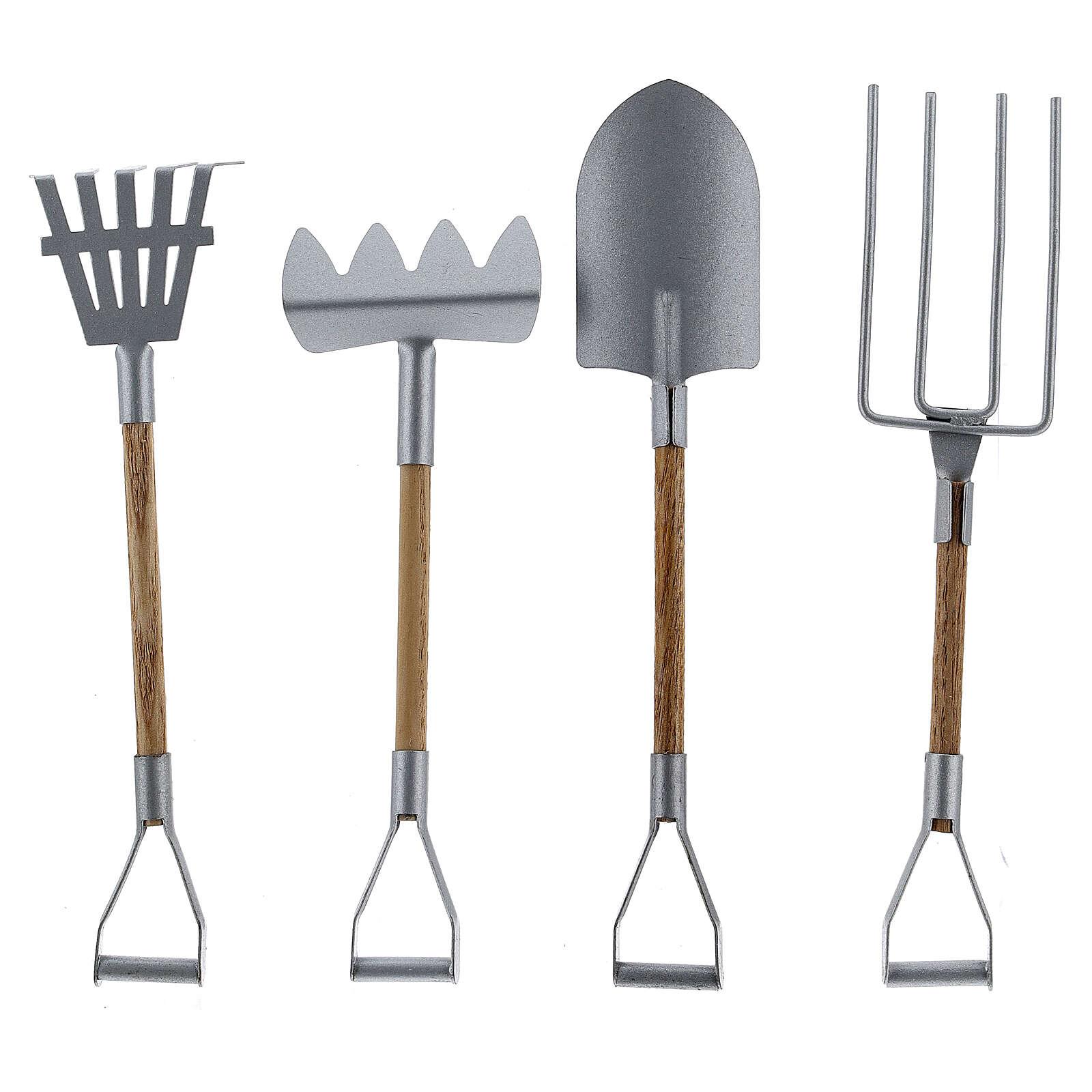 Miniature gardening tools 4 pcs set 20 cm nativity 4