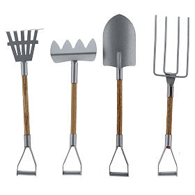 Miniature gardening tools 4 pcs set 20 cm nativity s2