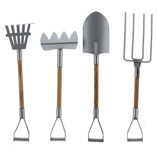 Miniature gardening tools 4 pcs set 20 cm nativity 2