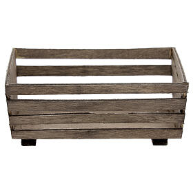 Empty manger for Nativity Scene with 10 cm figurines s1