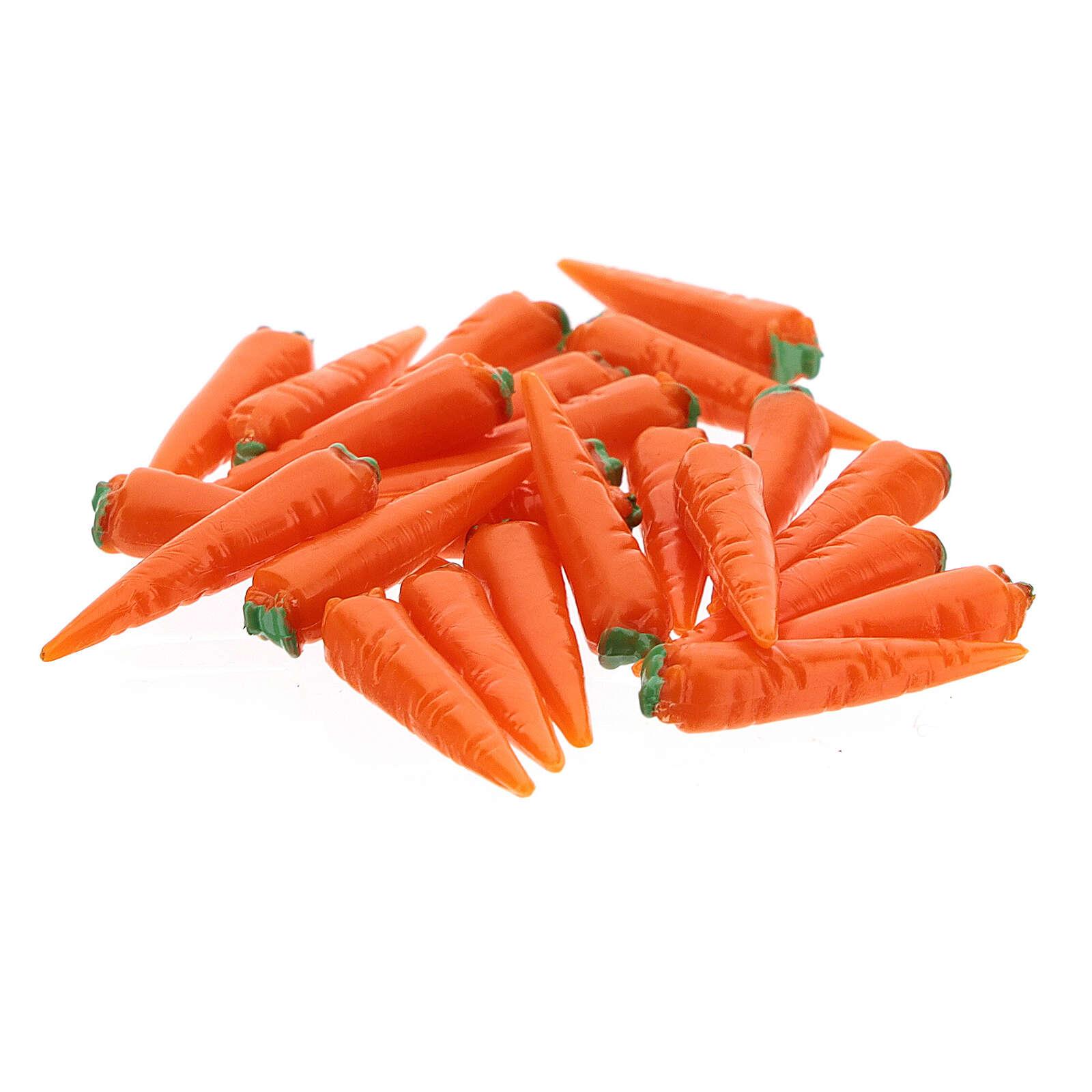 Conjunto 24 cenouras miniaturas para presépio com figuras de altura média 6-8 cm 4