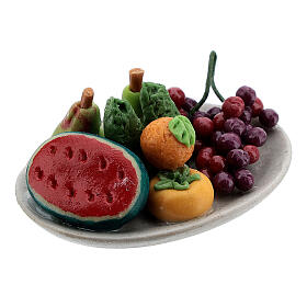 Set of 6 dishes with fruits for Nativity Scene with 8-10 cm figurines s5