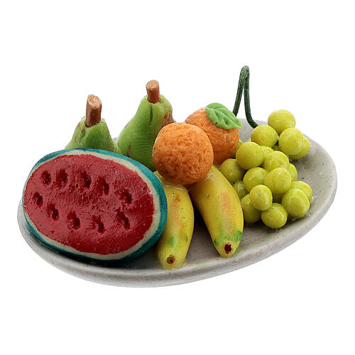 Set of 6 dishes with fruits for Nativity Scene with 8-10 cm figurines 3