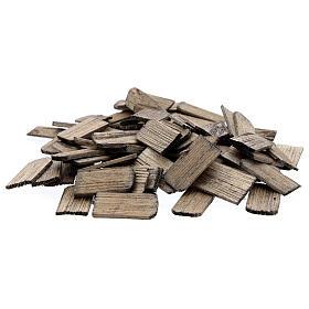 Telhas de madeira miniaturas presépio 3x1,5 cm, 100 unidades s1