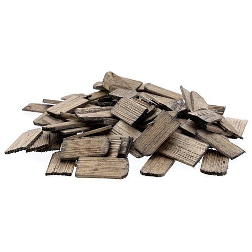Wood shingles 3x1,5 cm 100 pieces for DIY Nativity Scene 1