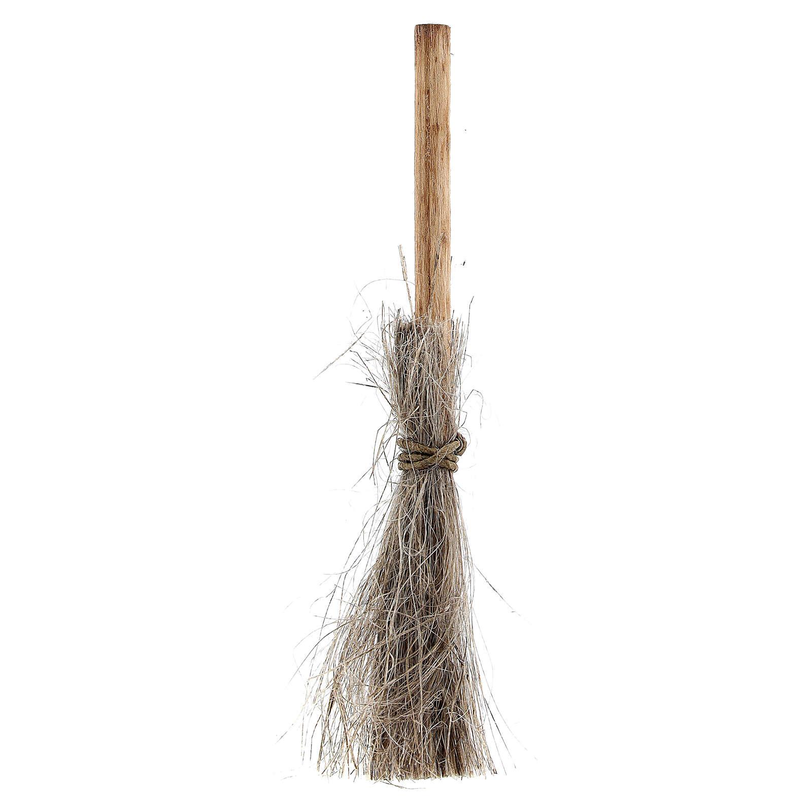 Straw broom h 8 cm for Nativity Scene with 10-12 cm figurines 4