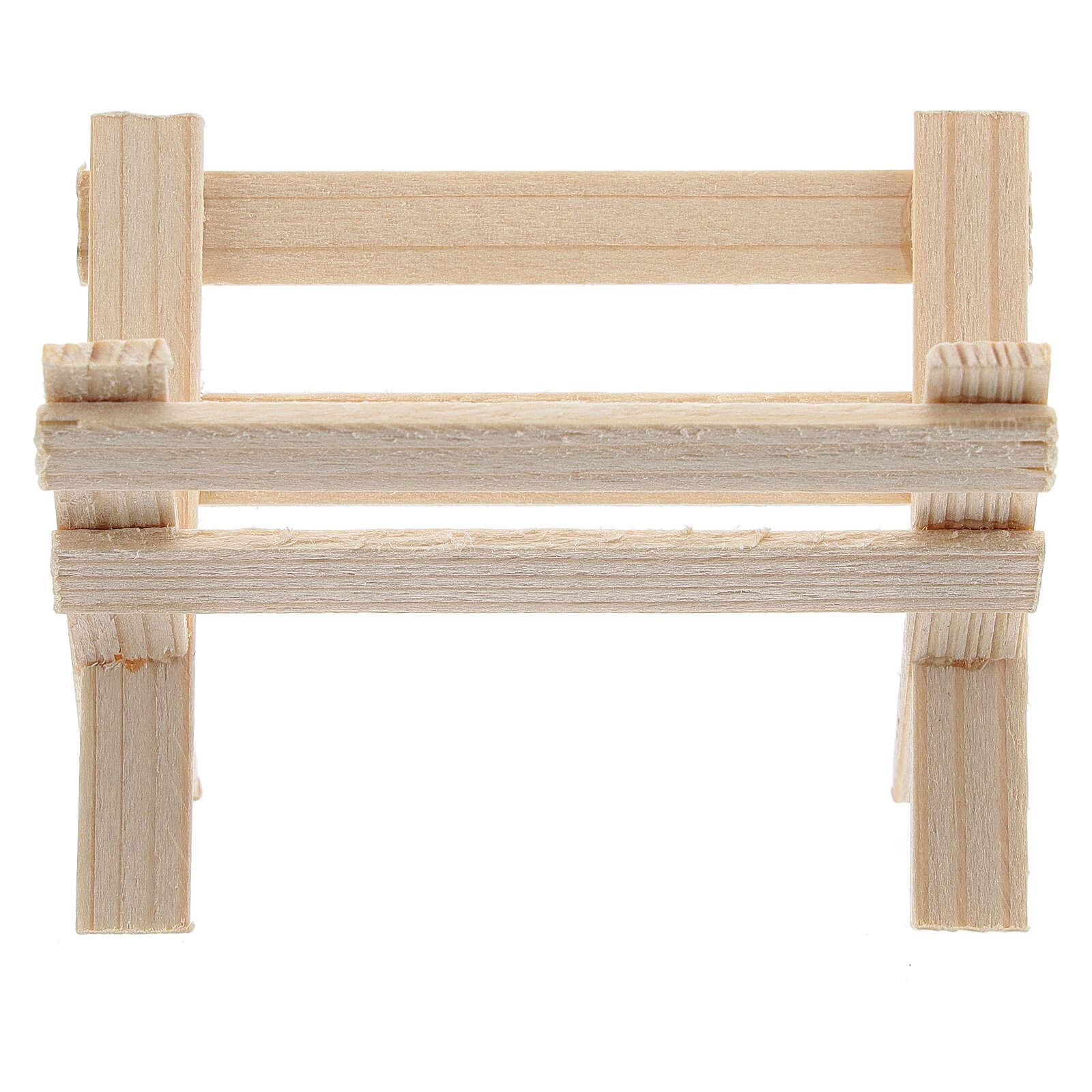 Mangiatoia vuota legno presepe 8 cm 4