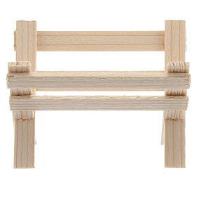 Mangiatoia vuota legno presepe 8 cm s1