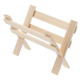 Mangiatoia vuota legno presepe 8 cm s2