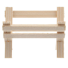 Empty wood manger for Nativity Scene with 8 cm figurines s1
