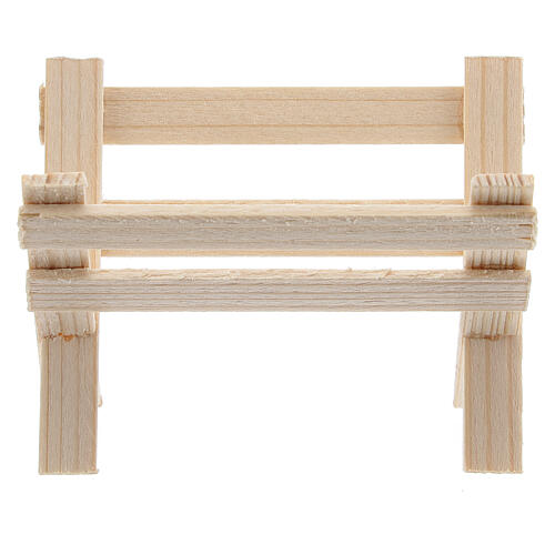 Empty wood manger for Nativity Scene with 8 cm figurines 1
