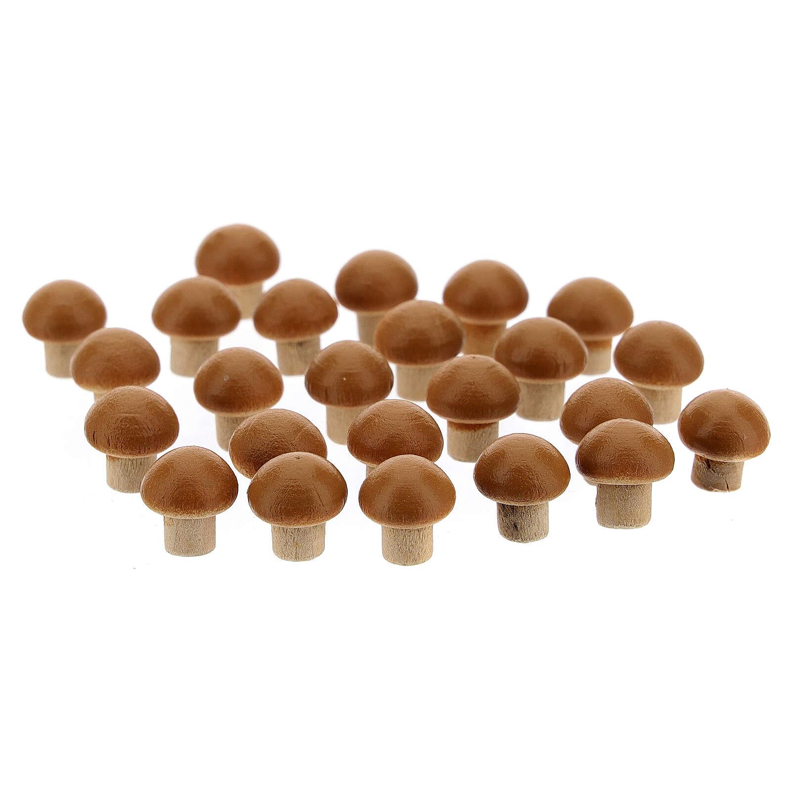 Funghi 24 pezzi presepe 8 cm 4