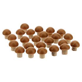 Cogumelos 24 unidades miniaturas para presépio com figuras altura média 8 cm s1