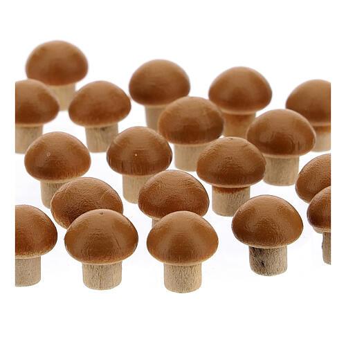 Cogumelos 24 unidades miniaturas para presépio com figuras altura média 8 cm 2