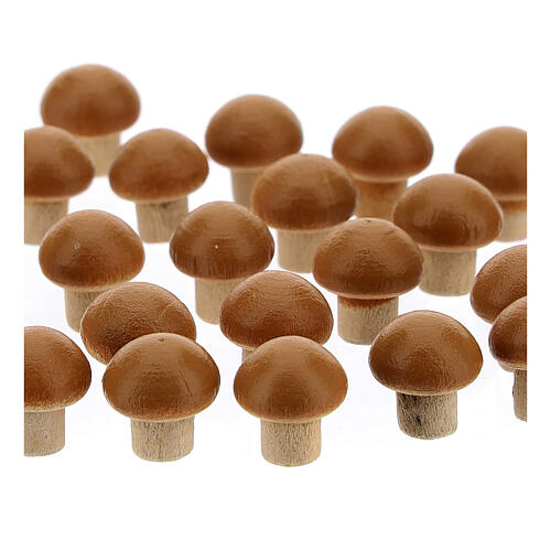 Set of 24 mushrooms for Nativity Scene with 8 cm figurines 2