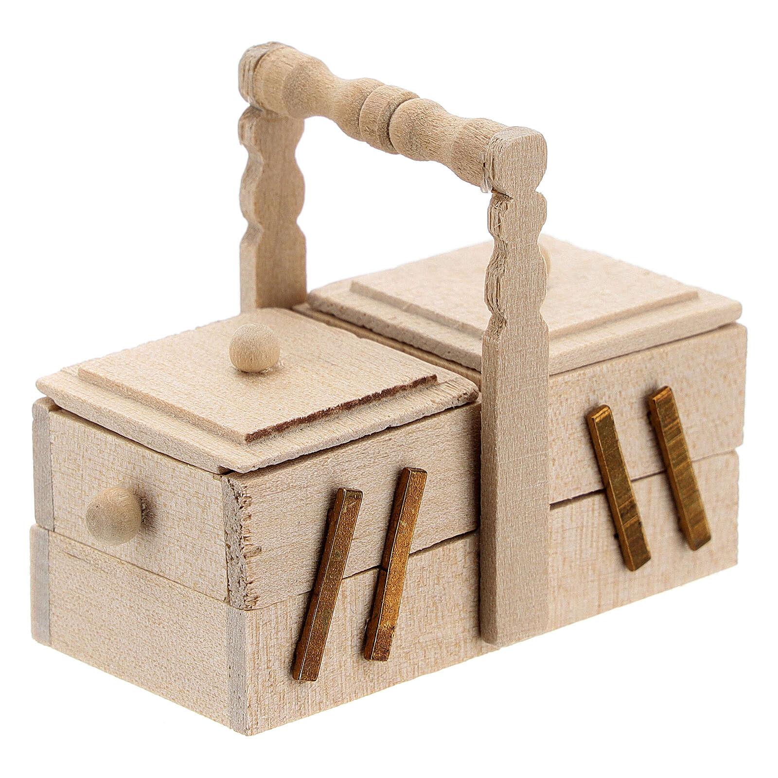 Wooden dressmaker case Nativity scene 10 cm 4